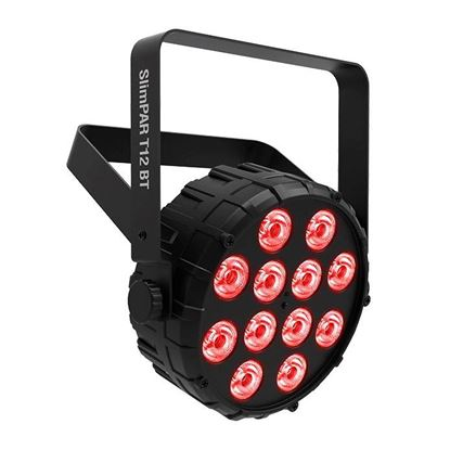 Chauvet SlimPAR T12 BT Compact Washlight w 12 x 2.5W Tri-color RGB LEDs with Bluetooth App Control Right