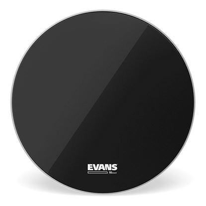 Evans 16 inch EQ3 Resonant Black Drum Head No Port - Front