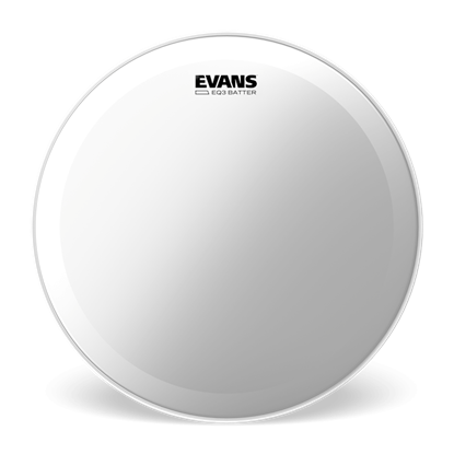 Evans 20 inch EQ3 Clear Bass Drum Head - Front