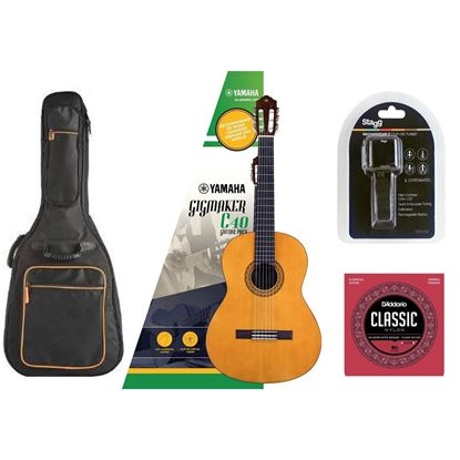 Yamaha C40 Classical Guitar Essentials Bundle