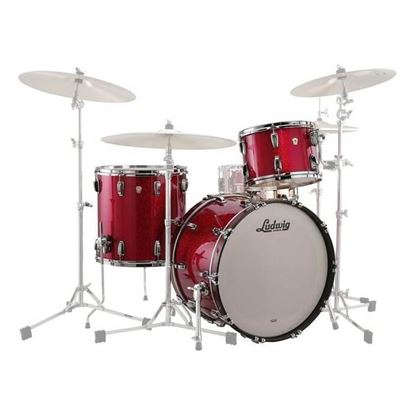Ludwig Classic Maple 3-piece 22 inch Shell Pack Drum Kit in Red Sparkle
