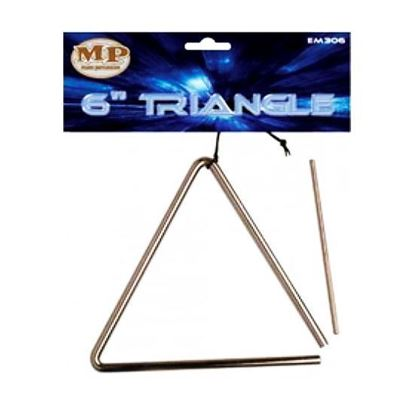 Mano Percussion EM306 6nch Triangle with Beater and Holder