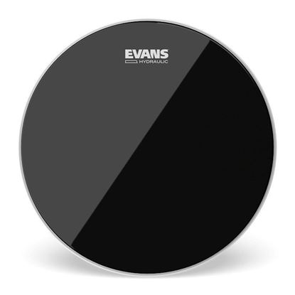 Evans Hydraulic Black Drum Head, 12 Inch - Front