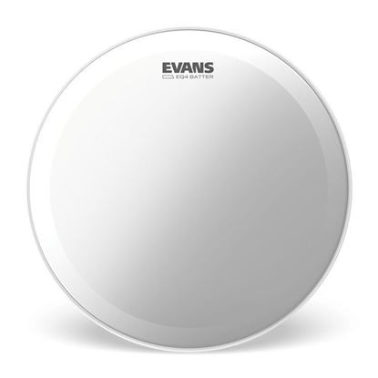 Evans EQ4 Frosted Bass Drum Head, 24 Inch - Front