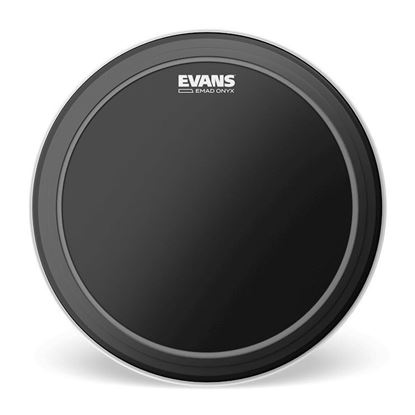 Evans EMAD Onyx Bass Drum Head, 18 Inch - Front