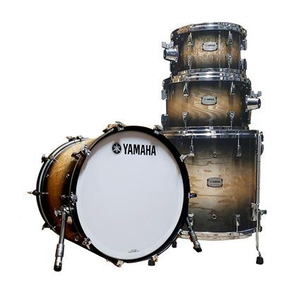 Yamaha PHX Euro 22inch Drum Kit in Textured Ash Black Sunburst Finish Full Shot