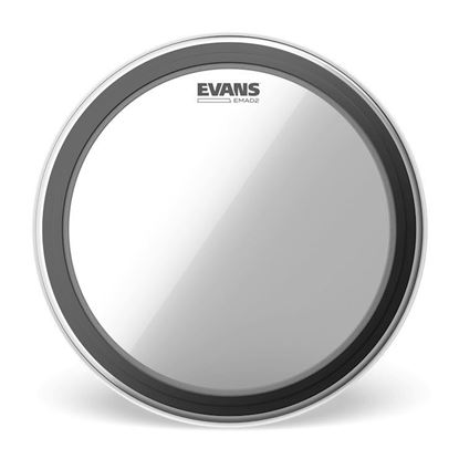 Evans EMAD2 Clear Bass Drum Head, 18 Inch - Top