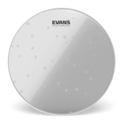 Evans 18 Inch Hydraulic Glass Clear Drum Head - Top