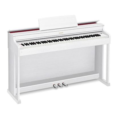 Casio AP470WE Celviano Digital Piano with Piano Bench - White Right
