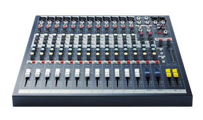 Soundcraft EPM12 High-Performance 12-Channel Analog Mixer - Front