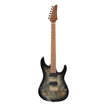 Ibanez AZ242PBG CKB Electric Guitar with Bag  - Charcoal Black Burst - Front