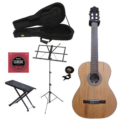 Katoh MCG35C Full Size Classical Guitar Bundle