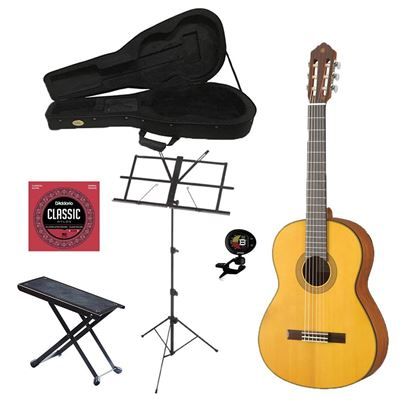 Yamaha CG122BTS Full Size Classical Guitar Bundle
