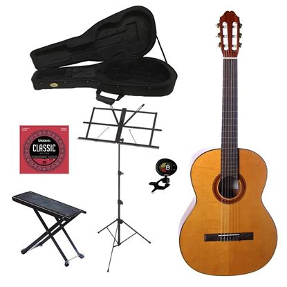 Katoh MCG40C Full Size Classical Guitar Bundle