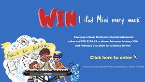 Win an iPad mini every week  with Casio!