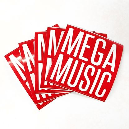 Mega Music Logo Stickers - 5 Pack