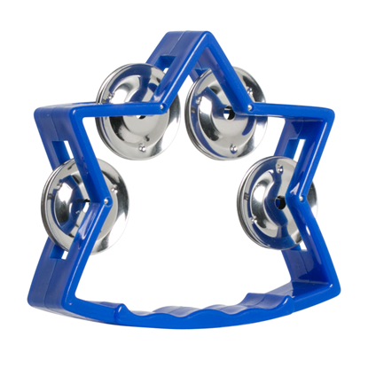 Mano Percussion TMP27BL Junior Star Tambourine 5 Inch Blue