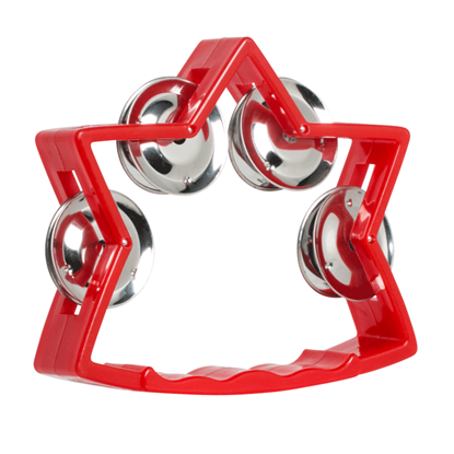 Mano Percussion TMP27BL Junior Star Tambourine 5 Inch Red