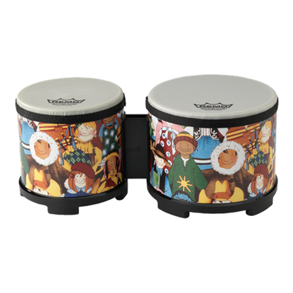 Remo Rhythm Club Kids Bongos 5 and 6 inch