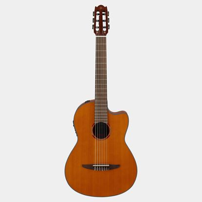 Yamaha NCX1C Cutaway Acoustic-Electric Classical Guitar in Natural - Front