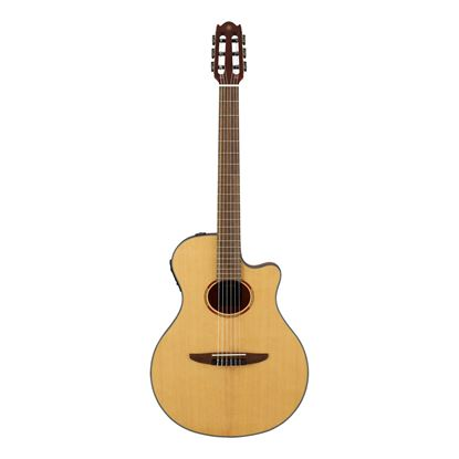 Yamaha NTX1 Acoustic-Electric Classical Guitar in Natural - Front