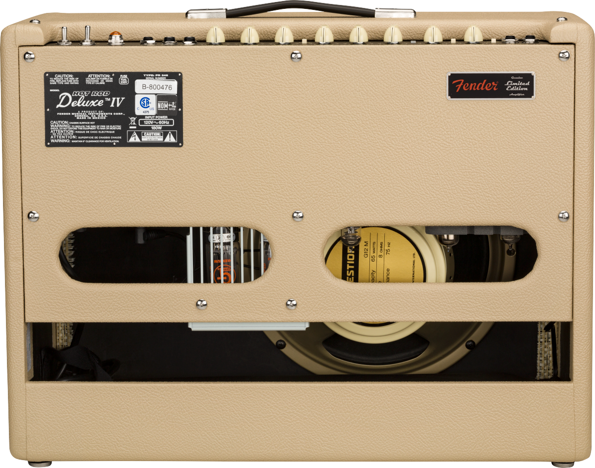 Fender Hot Rod Deluxe Limited Edition Guitar Combo Amplifier - Vanilla Cane - Back