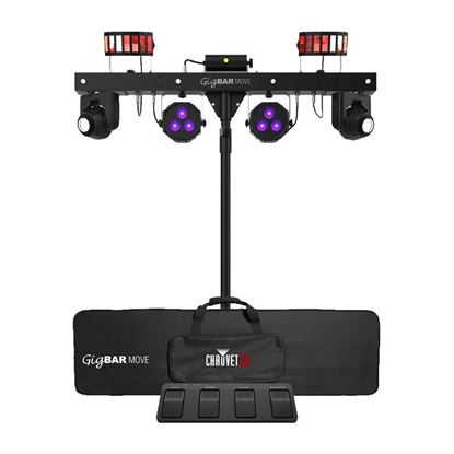 Chauvet Gig Bar Move 5-In-1 LED Effect Light - Moving Heads, Derbys, Pars, Laser, & Strob