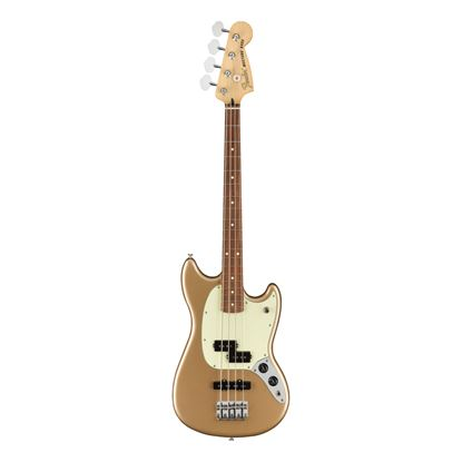 Fender Player Mustang PJ Bass Guitar - PF - Firemist Gold - Front