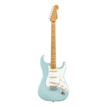Fender Vintera 50s Stratocaster Modified Electric Guitar  - MN - Daphne Blue - Front