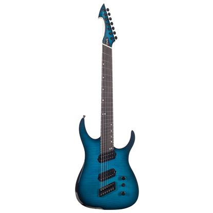 Ormsby Run 6 Hype GTR Multi Scale 7 String Electric Guitar - Beto Blue - Front