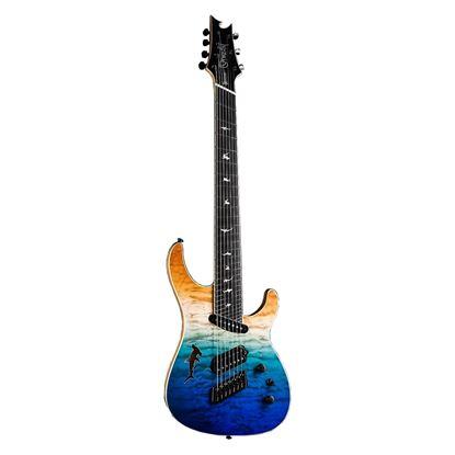 Ormsby Run 7 SX GTR Shark 7 String Electric Guitar - Ocean Dream - Front