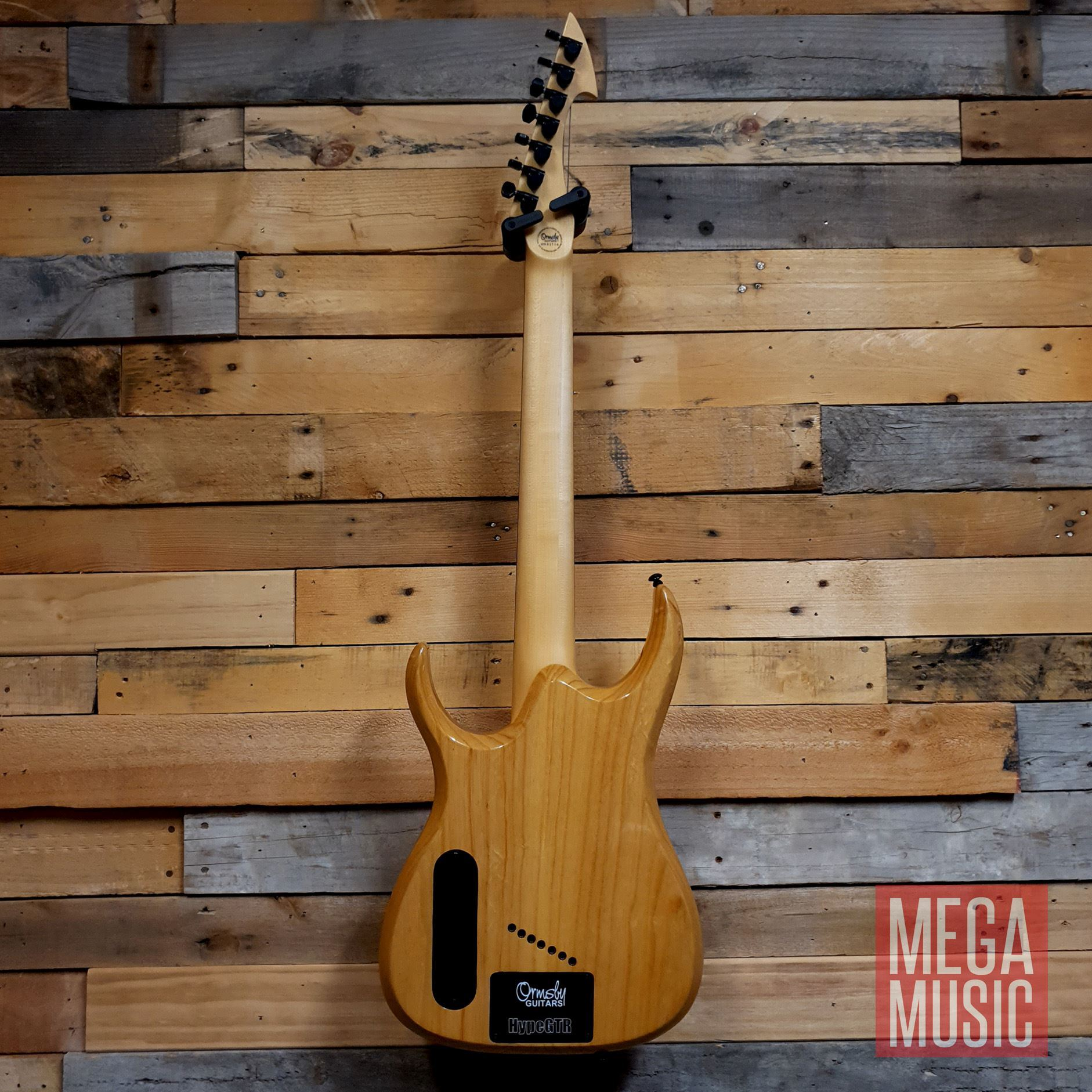 Ormsby Reissue Hype GTR 7 String Electric Guitar - Gloss Ash - Back