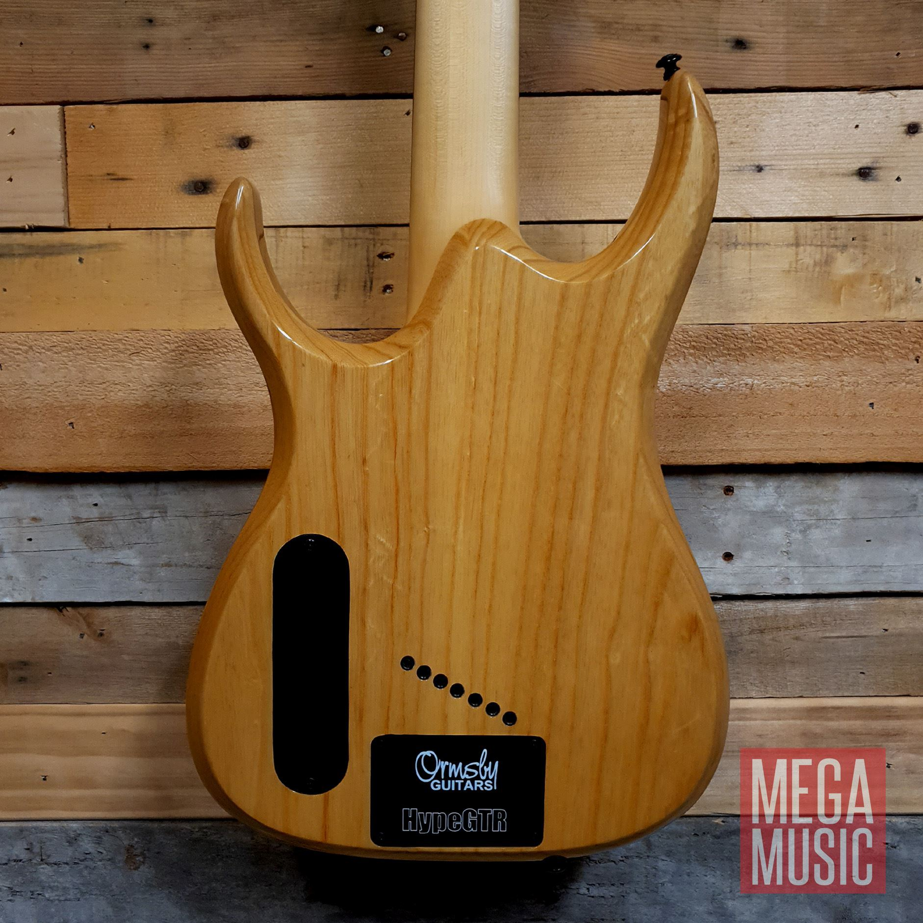 Ormsby Reissue Hype GTR 7 String Electric Guitar - Gloss Ash - Body Back