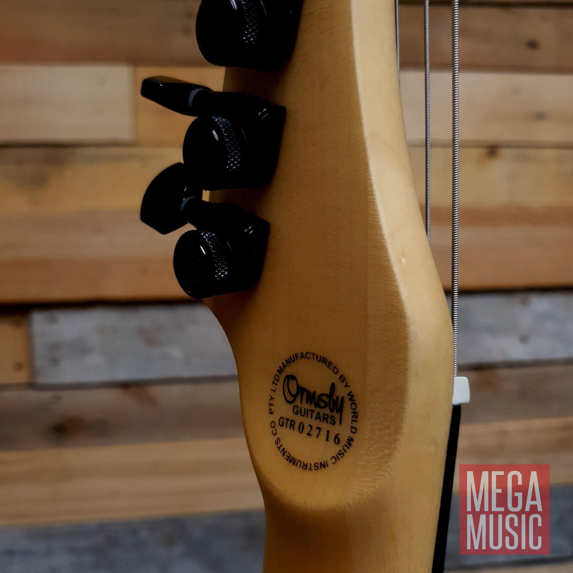 Ormsby Reissue Hype GTR 7 String Electric Guitar - Gloss Ash - Logo Back