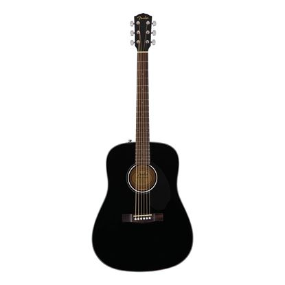 Fender CD-60S Dreadnought Acoustic Guitar- WN - Black - Front