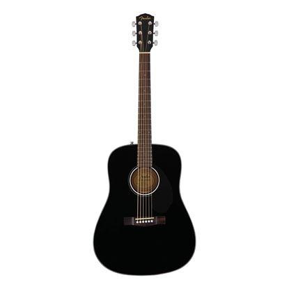 Fender CD-60S Dreadnought Acoustic Guitar- WN - Black - Front