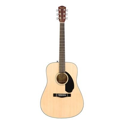 Fender CD-60S Dreadnought Acoustic Guitar - WN - Natural - Front