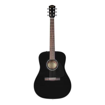 Fender CD-60 Dreadnought V3 Acoustic Guitar - WN - Black - Front