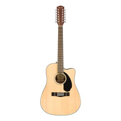Fender CD-60SCE 12-String Dreadnought - WN - Natural - Front