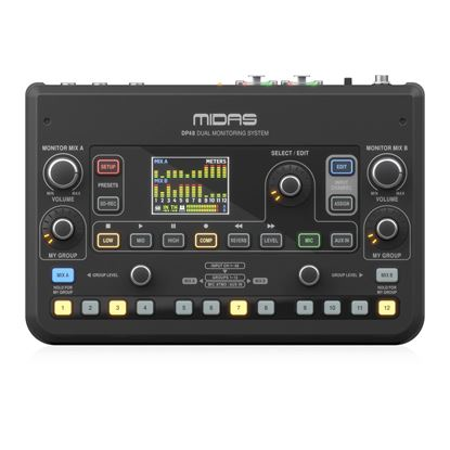 Midas DP48 Dual Channel Personal Monitor Mixer - Front