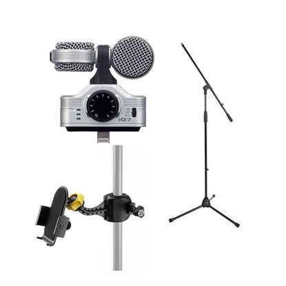 Zoom IQ7 Stereo Microphone Podcasting and Streaming Bundle