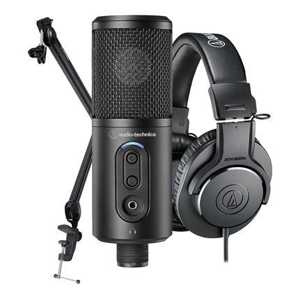 Audio Technica Content Creator Pack (Comes with ATR2500X-USB, M20x & Boom Arm)