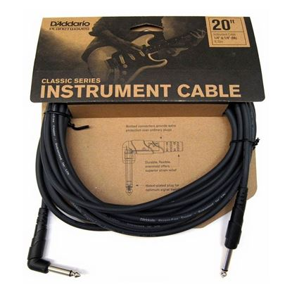 "Planet Waves Classic Series 20ft 1/4"" Instrument/Guitar Cable (Right Angle Plug)"