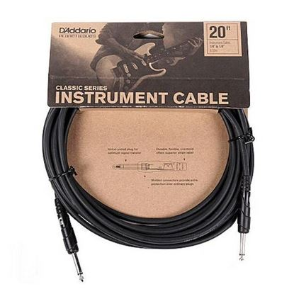 "Planet Waves Classic Series 20ft 1/4"" Instrument/Guitar Cable"