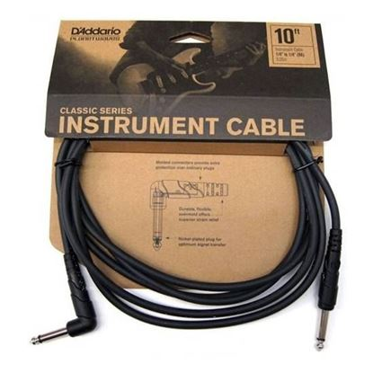 """Planet Waves Classic Series 10ft 1/4"""" Instrument/Guitar Cable (Right Angle Plug)"""
