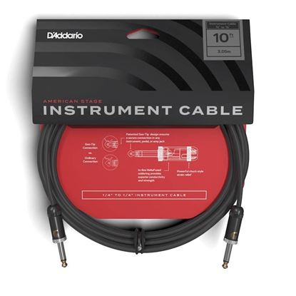 """Planet Waves American Stage 10ft 1/4"""" Instrument/Guitar Cable"""