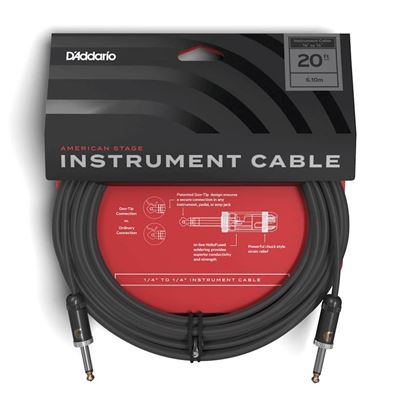 """Planet Waves American Stage 20ft 1/4"""" Instrument/Guitar Cable"""