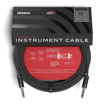 """Planet Waves American Stage 15ft 1/4"""" Instrument/Guitar Cable"""
