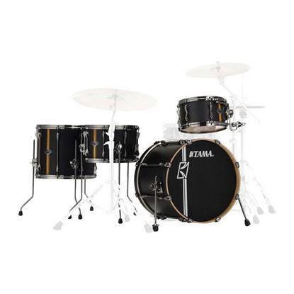 Tama ML40HZBN2-FBV Superstar Hyperdrive 4-Piece Drum Kit - Flat Black Vertical Stripe