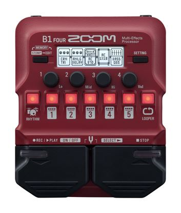 Zoom B1 Four Bass FX - Top
